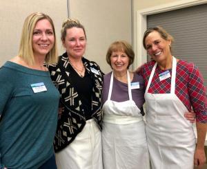 photo of kitchen volunteers