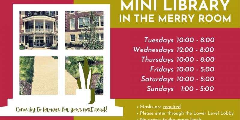 Mini library expanded hours! now open sundays 1-5