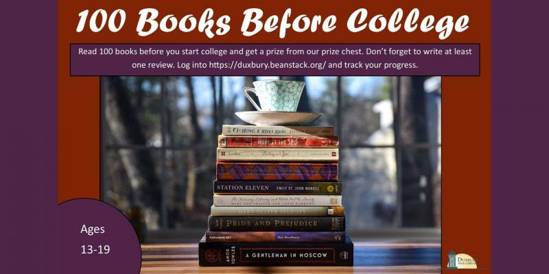 100 books before college program. Sign up today!